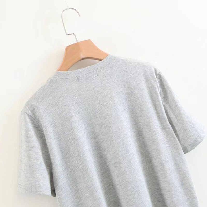 Debemos ser todas las mujeres letra femenina camiseta mujeres camisetas túnica moda coreana Tops ropa femenina lema femenino camiseta