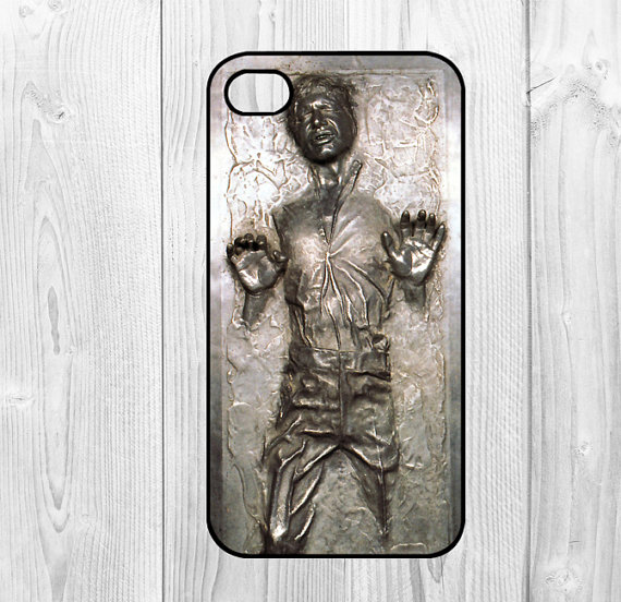 R2D2 Star Wars Han Solo Frozen Carbonite Cool Print Black Plastic Cover Case For iphone 4 4S 5 5S SE 5C 6 6S 6Plus 7 7Plus Cases
