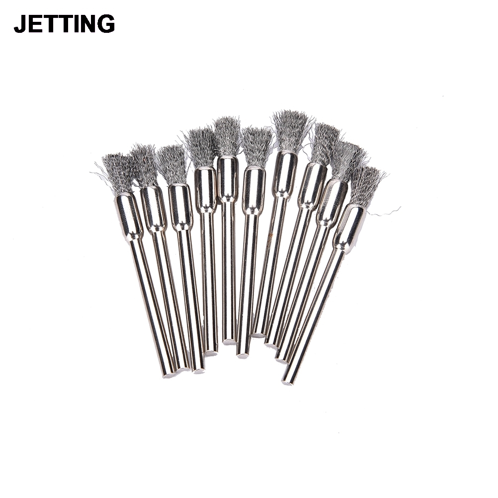 10x rotary mini tools steel wire wheel brushes cup rust cleaning - Jetting 10pcs 5mm Brass Wire Wheel Brush Shank Suitable For Rotary Dremel Drill Tool Clean Polish Shank Fits Rotary Tool