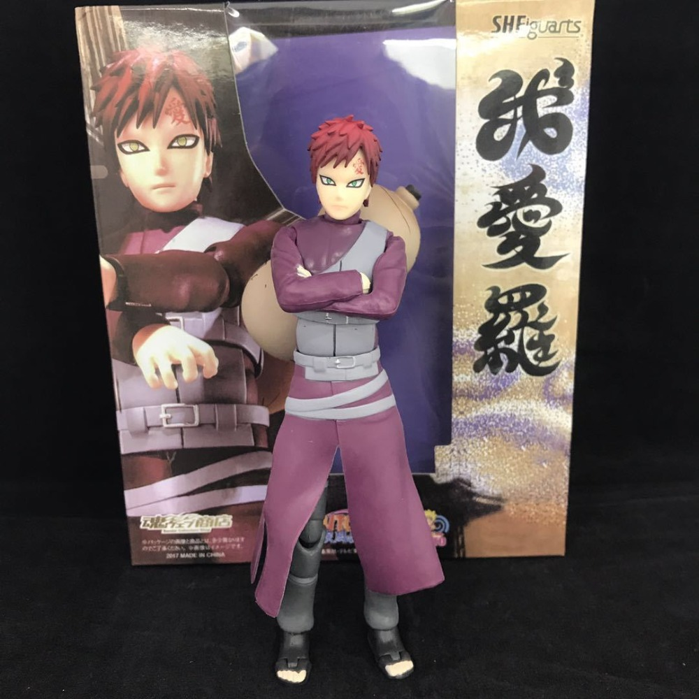 S.H.Figuarts Anime Naruto Shippuden Gaara PVC Action Figures Collectible Model Kids Toys Doll 15cm lps pet shop toys rare black little cat blue eyes animal models patrulla canina action figures kids toys gift cat free shipping