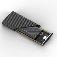 New usb3.1 type c ssd case converter PCIE msata NVME hard drive enclosure aluminum ssd housing case