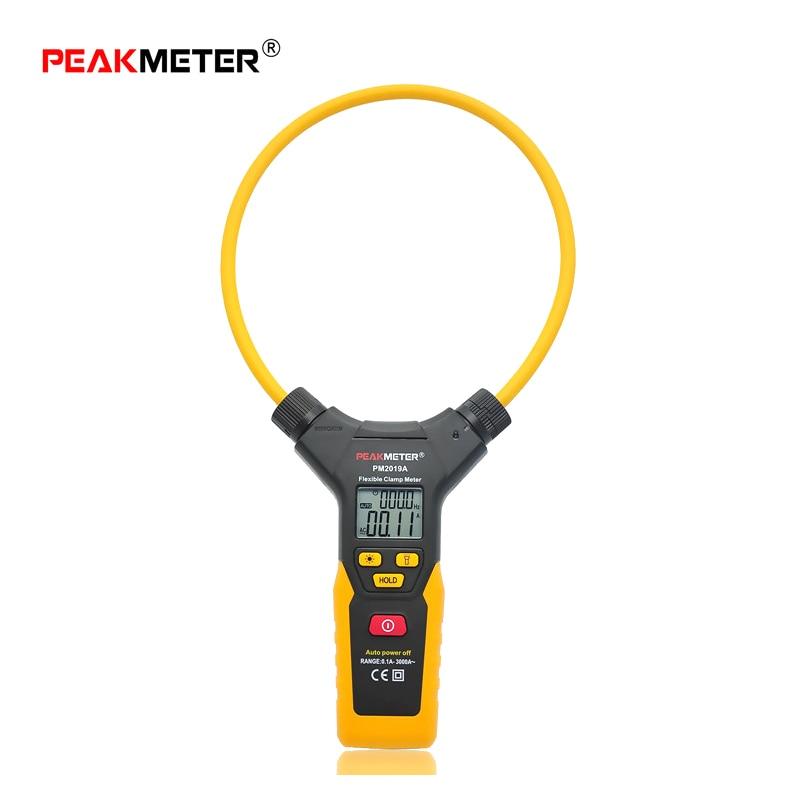 PEAKMETER PM2019A Smart AC 3000A 6000 counts Digital Flexible Clamp Meter Multimeter Handheld Current Detector Tester backlight