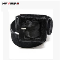 Large Square Pin Buckle Genuine Leather Belt Men Cowskin Wide Waistband Cowhide Horsehair Leopard Corset Belts for Women Riem
