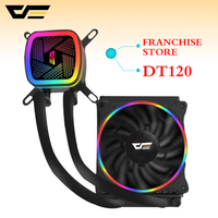 darkflash Water Cooling Ice Tower DT120/DT240 Water Cooler with RGB 120mm 4pin PWM CPU Cooling Fan for Inetel and AMD all of CPU
