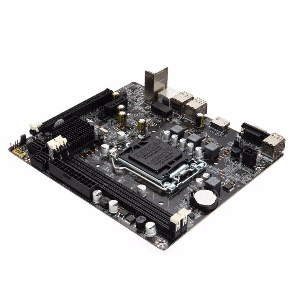Nouvelle carte mère 1155 DDR3 PCIE Micro ATX 10 Ports USB pour Intel H61 Socket LGA Support Core i7/i5/i3/Pentiun/Celeron