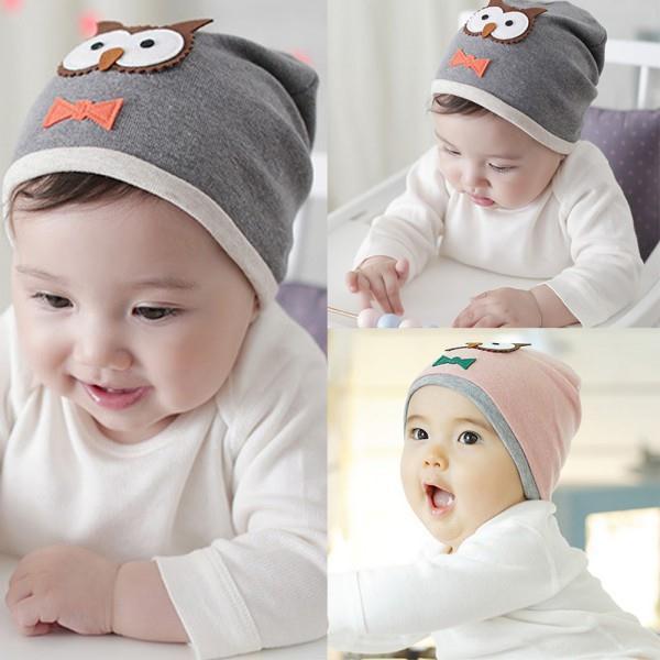 ₩Unisex infantil Niños Niñas suave sombrero gorras Bebé animal búho ...