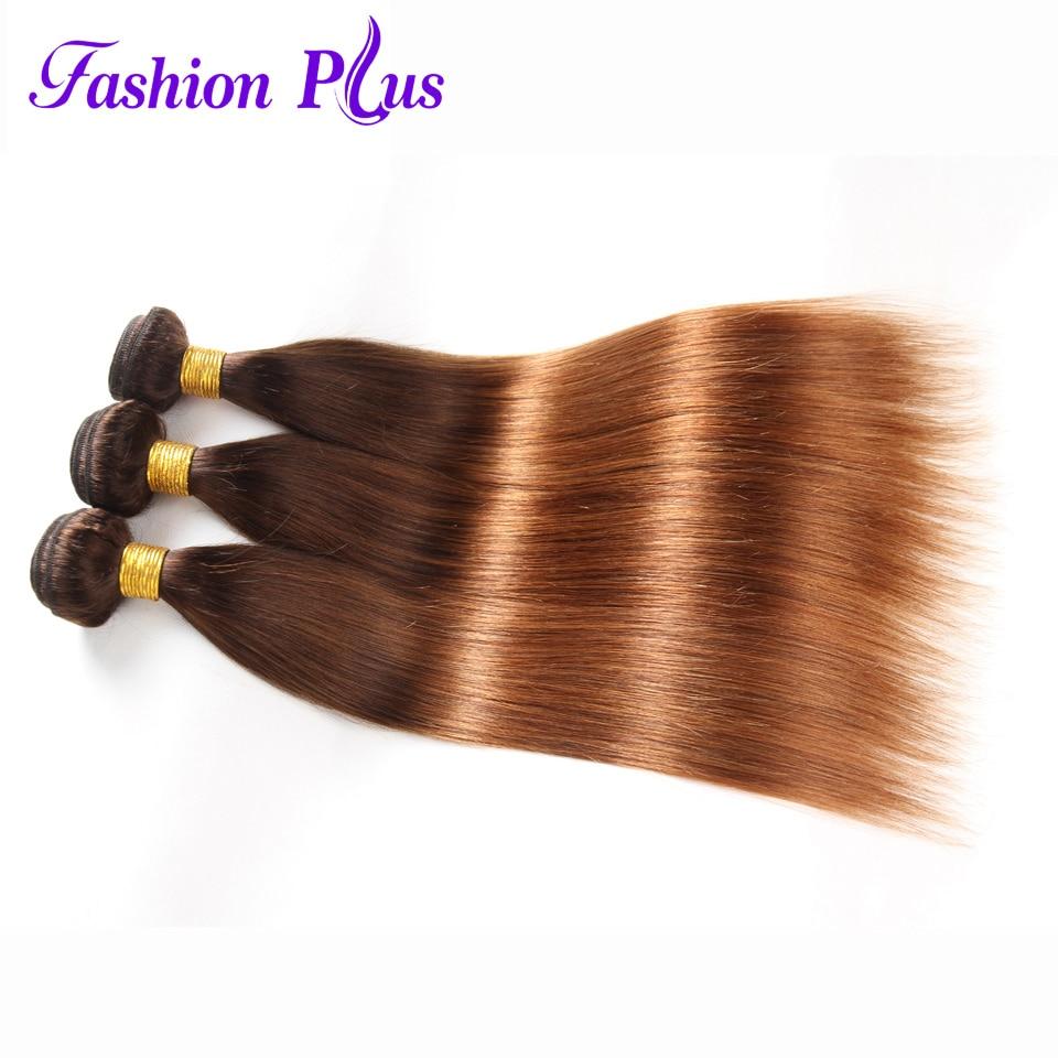 Fashion Plus Pure Color Brasiilia ombre sirged juuksed kimbud # 27 # - Inimeste juuksed (valge) - Foto 4