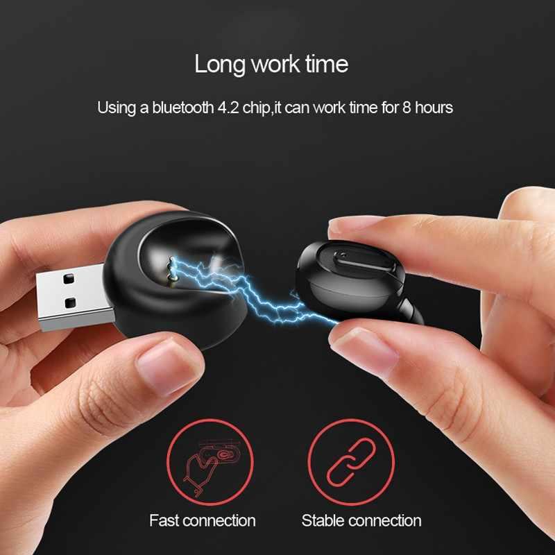 Mini bezprzewodowa Bluetooth słuchawki Fone słuchawki Bluetooth z mikrofonem Auriculares bezprzewodowy zestaw słuchawkowy Bluetooth słuchawka do telefonu