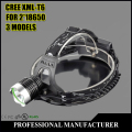 CREE XML T6 Mechanical zoom Headlamp 3 Modes 2000LM LED Rechargeable Headlight  Spotlight For Fishing Freeshiping