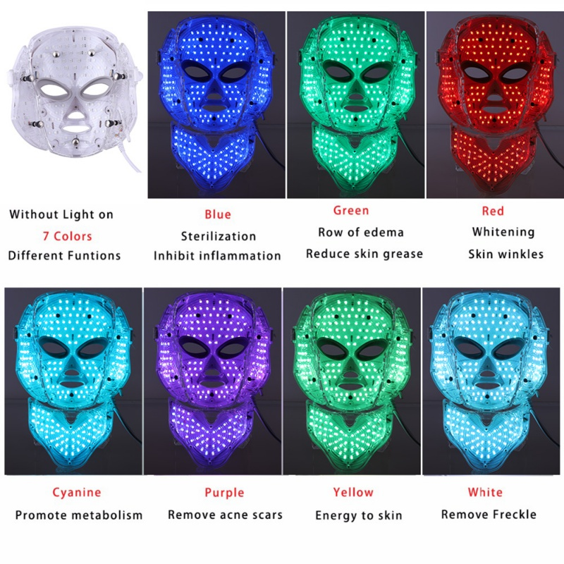 7 Colors LED Photon Electric Facial Mask with Neck Skin Rejuvenation Anti Acne Wrinkle Beauty Effect Treatment Home Use7 Colors LED Photon Electric Facial Mask with Neck Skin Rejuvenation Anti Acne Wrinkle Beauty Effect Treatment Home Use