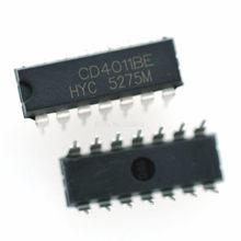 10 pçs/lote CD4011 HEF4011 HCF4011 CD4011BE DIP-14 IC Original Novo