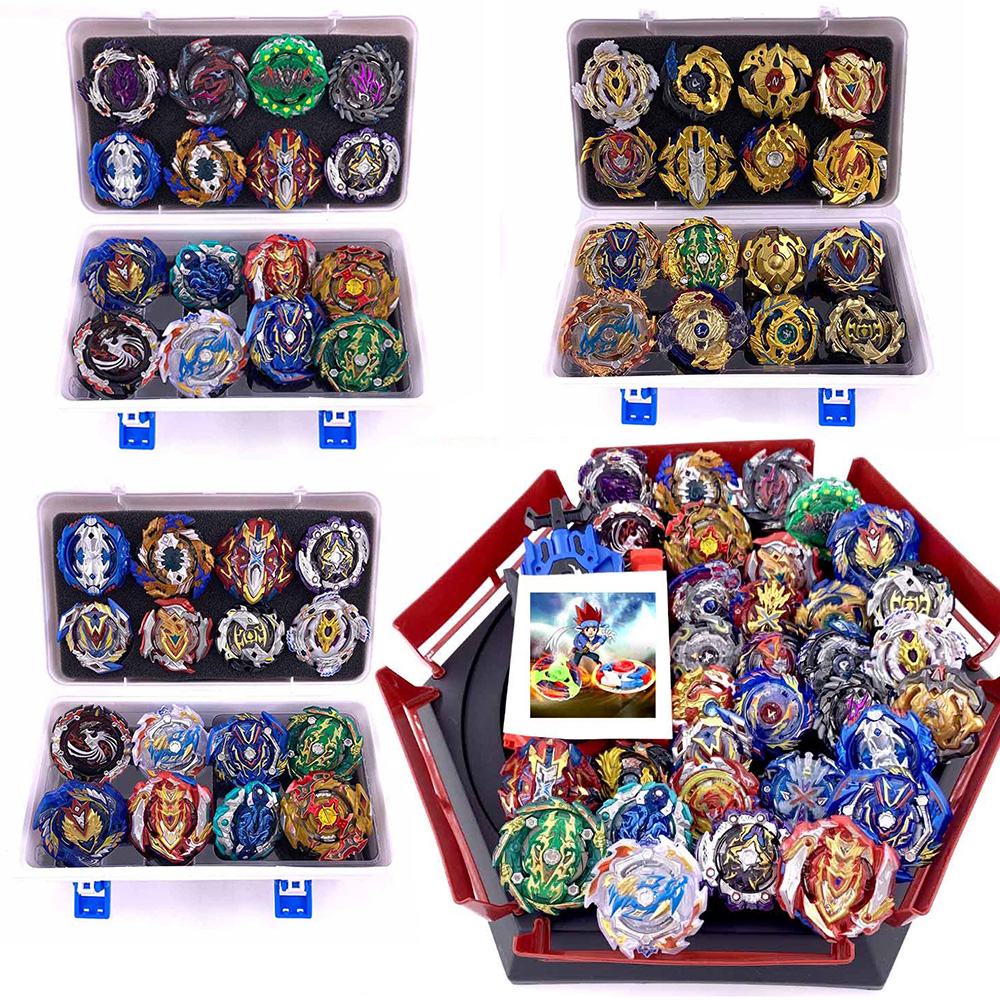 New Burst Set Launchers <font><b>Beyblade</b></font> Toys Arena Launchers Beyblades Toupie Metal Burst Avec God Spinning Top Bey Blade Blades Toy image