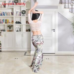 Image 3 - New Practice Belly Dance Costume Milk Silk flower elegant Long Skirts