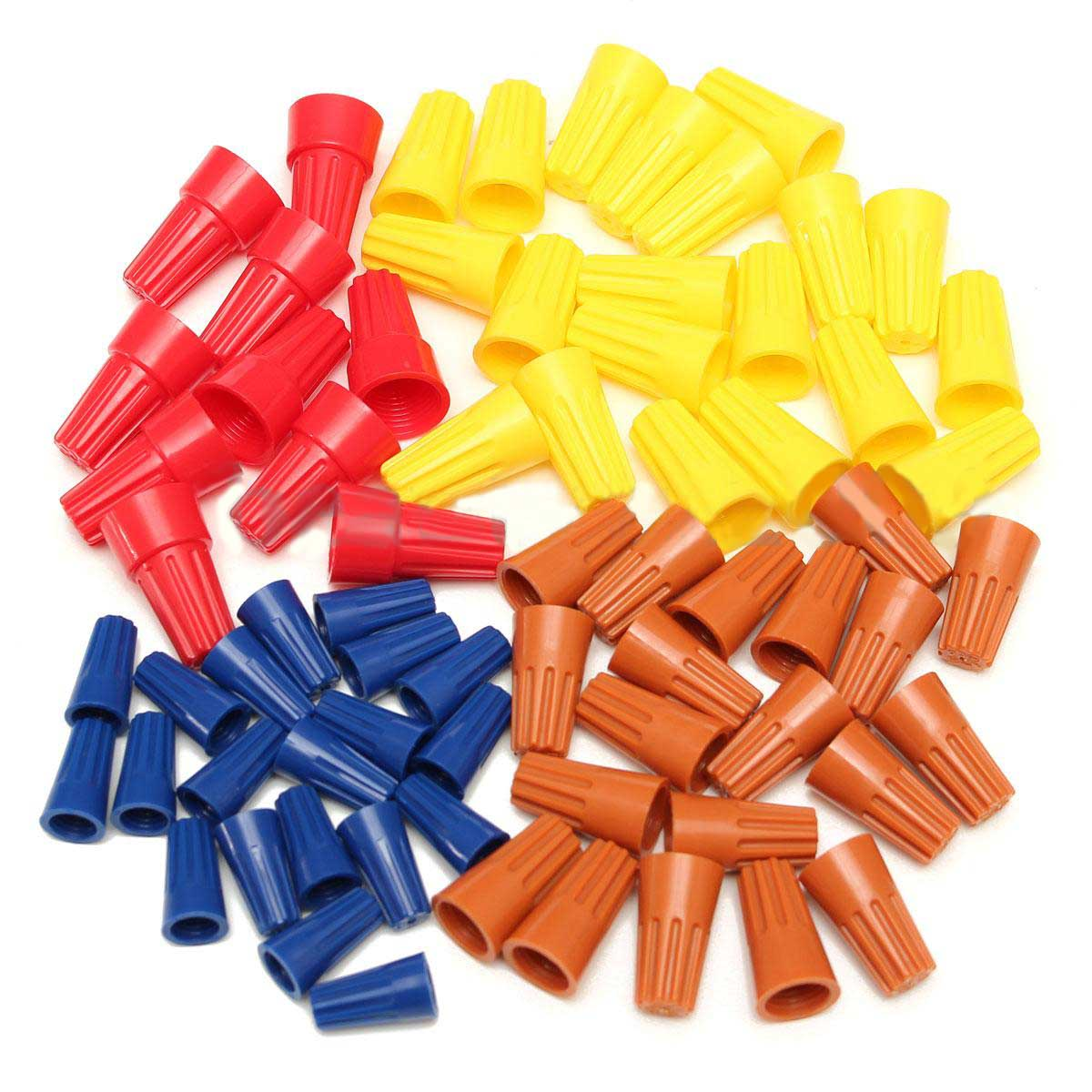 70pcs Set Electrical Wire Twist Connectors Assorted Wire