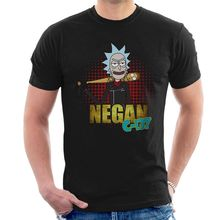 NEGAN C-137 T-SHIRT Rick & Morty TWD funny lucille walking dead tee C19 Funny Tops Tee New Unisex free shipping