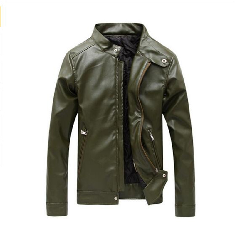 Leather Jackets Men Autumn and Winter Leather Clothing Men Leather Jackets Male Business casual Coats 2018 New