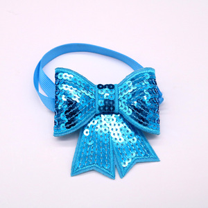 Image 2 - 50pcs Christmas Dog Accessories Shining Pet Dog Bow Tie Adjustable Christmas Dog Cat Bowties for Small&Medium Pet  Accessories