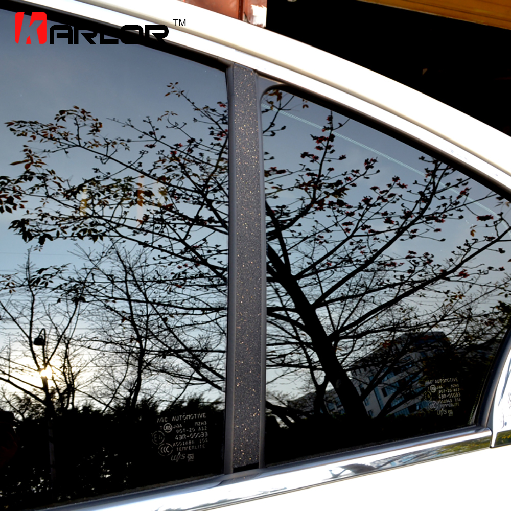 Auto Window Frame ABC Pillar Carbon Fiber Protection Film Car-styling Sticker And Decal For Infiniti Q50 Q50L 2014 Accessories