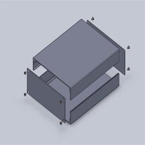 Image 5 - 1 stück aluminium instrumentenkoffer für elektronische projekt box in schwarz mit gebürstet 51*125*160mm