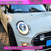 Car Styling For Mini F56 cooper led headlights For F 56 head lamp 2014 2015 2016 led DRL front light Bi Xenon Lens xenon HID KIT