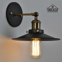 Vintage Wrought Iron Wall Lights Kitchen Bathroom Antique Indoor Wall Sconce Industrial Chandelier Lighting Modern Mini LED Lamp