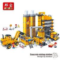 Banbao 8531 City Construction 808 pcs Plastic Model Building Blocks DIY Educational Toys concrete mixer truck boy