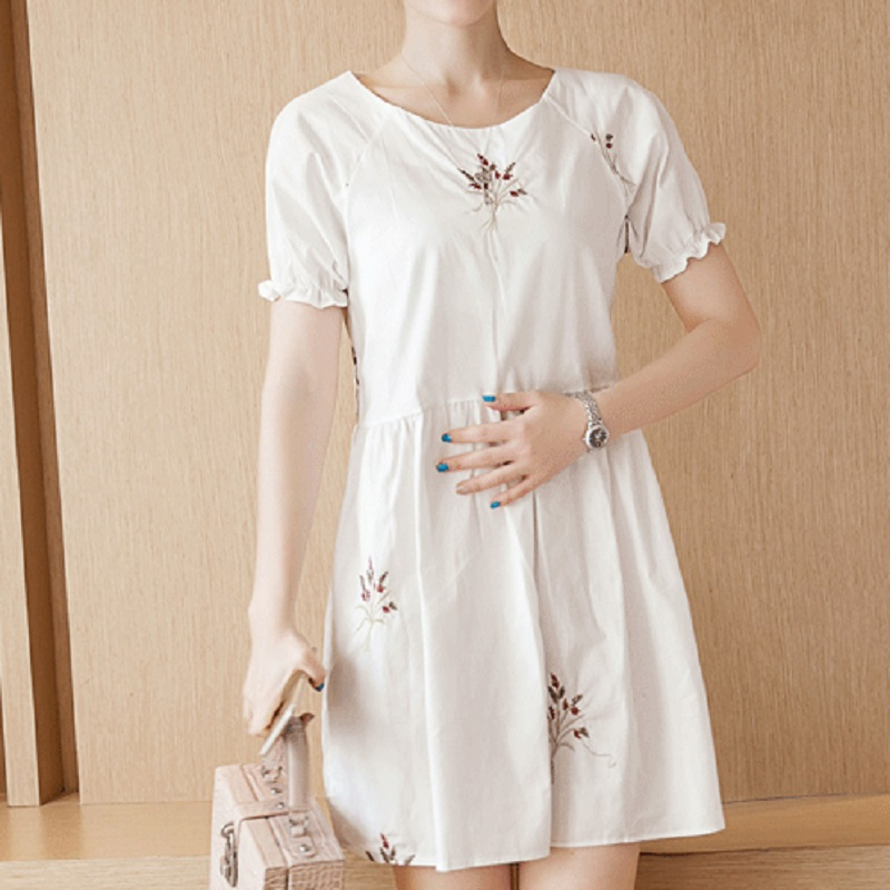 new summer maternity dresses embroidery womens dresses pregnancy dresses maternity clothing summer clothing 16634