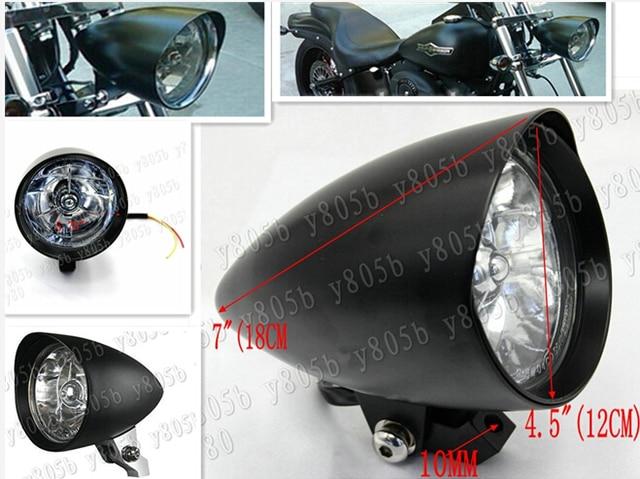 Motorcycle Aluminum Bullet 45 Headlight Light For Kawasaki Vulcan