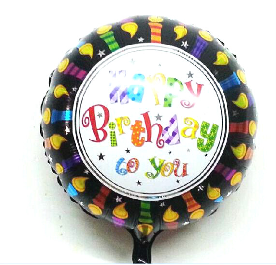 Black happy birthday foil balloon happy birthday balloons