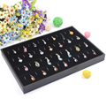 35*24cm Black Pendant Jewelry Display Box Organizer Show Case Holder Box New Ring Storage Ear Pin Accessories Boxs
