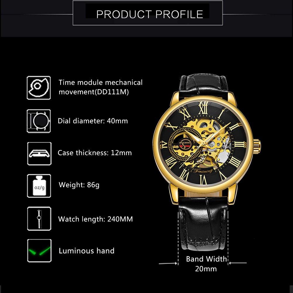 HTB1v5l9aBGE3KVjSZFhq6AkaFXau 2019 FORSINING 3D Logo Black Gold Men Mechanical Watch Montre Homme Man Watches Top Brand Luxury Leather WINNER Skeleton Design