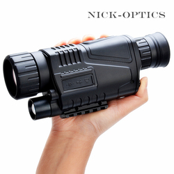 5x40 Telescópio Militar de Visão Noturna Infravermelha Visão Monocular Telescópio Monocular Tático Poderoso HD Digital de Alta Qualidade