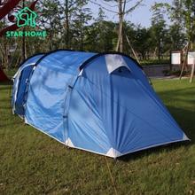 Nuovo stile! 3-4persons una camera da letto e un soggiorno doppio strato tunnel famiglia e del partito da campeggio tenda STELLA CASA MARCA