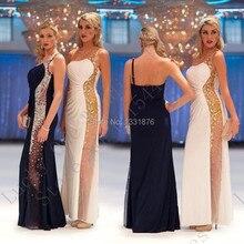 Abendkleider Kristall 2016 Weiß/Schwarz Prom Kleider Sexy Frauen Lange Mermaid Abendkleider Vestido Mae Da Noiva Formale Kleider