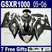 Injection molded fairings set for suzuki GSXR1000 2005 gsxr 1000 K5 2006 GSXR 1000 05 06 flat matte black motorcycle fair