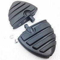 A Pair Black Aluminum Wing Front Rear Motorcycle FootRests Anti Vibration Skidproof Footpegs Male Mount For Harley Davidson