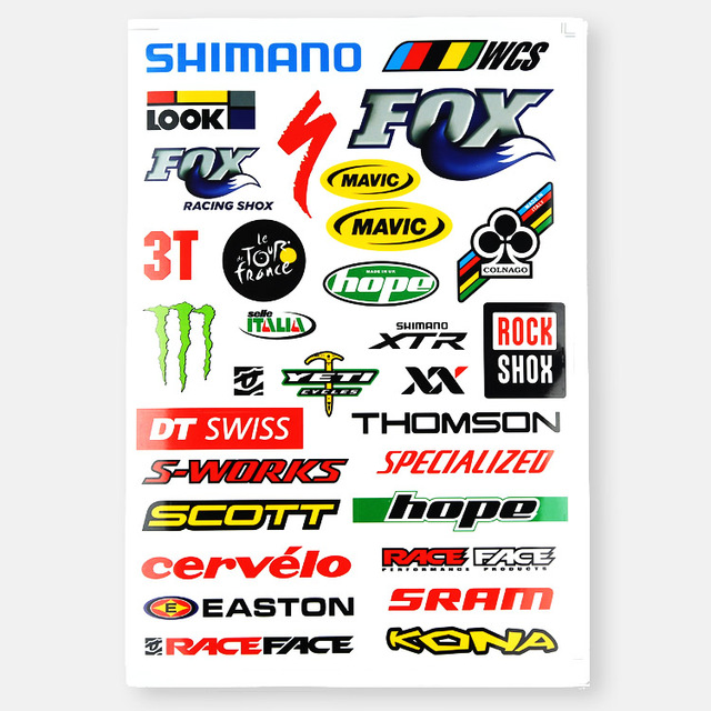 Brand Logo Road Bike Totem Sticker Scratch Cover Mtb Bicycle Sticker