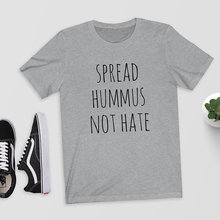 Spread Hummus Not Hate girlie / women's shirt