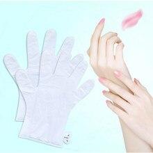 3 paar = 6 stücke Hand Pflege Peeling Hand Maske Feuchtigkeits Bleaching Hautpflege Peeling Hand Maske Anti-Falten aging Spa Handschuhe