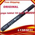 """НОВЫЕ Подлинная оригинальный аккумулятор для lenovo YOGA TABLET B8000-F 10 """"L13D3E31 B8000 10"""" литий-ионный Аккумулятор batteria 9000 мАч высокое качество"""