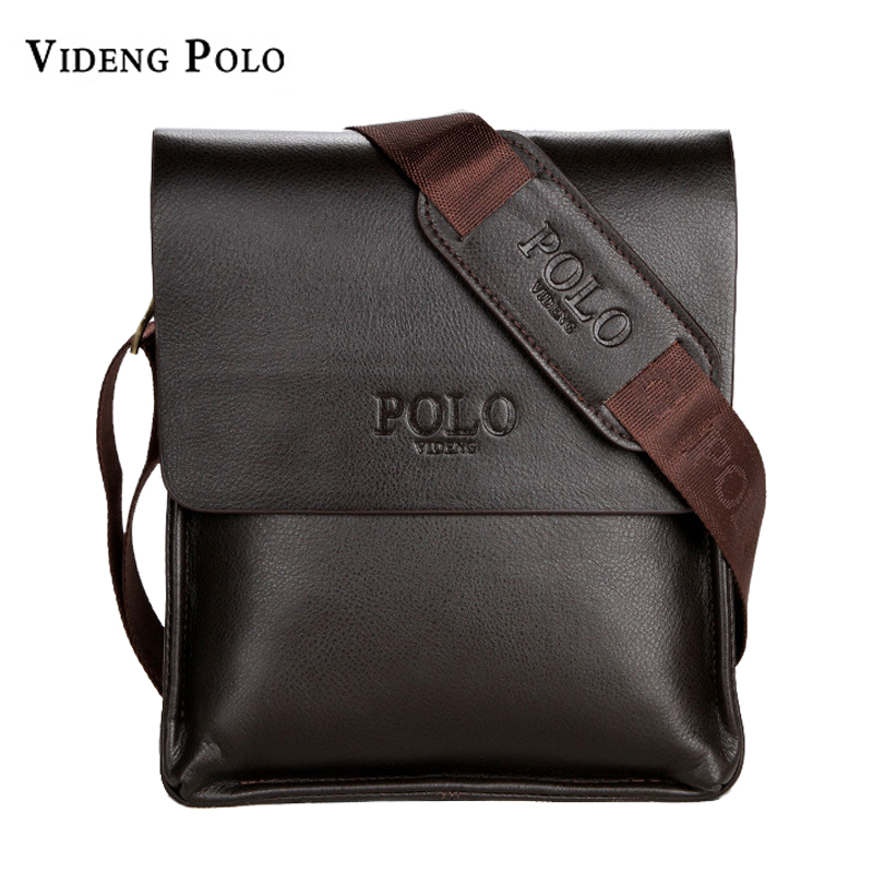 все цены на VIDENG POLO Famous Brand Leather Men Bag Casual Business Messenger Bag For Vintage Men's Crossbody Bag Male Shoulder Bags bolsas онлайн