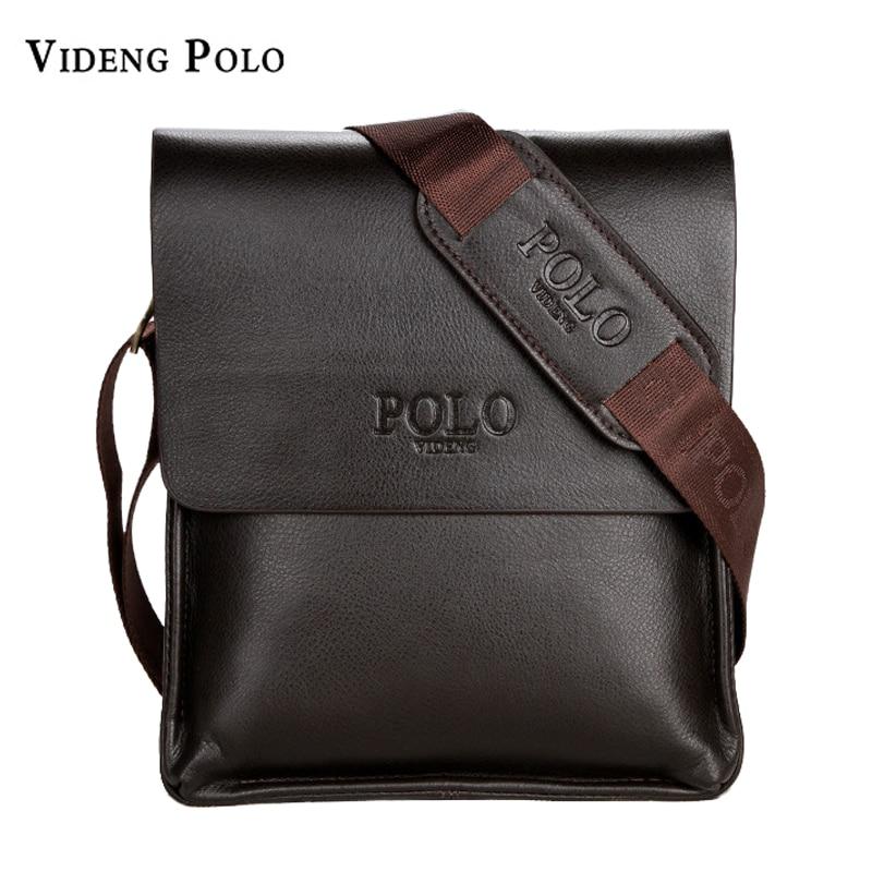 aeddb5db537b Buy VIDENG POLO Famous Brand Leather Men Bag Casual Business Leather Mens  Messenger Bag Vintage Men s Crossbody Bag bolsas male Online