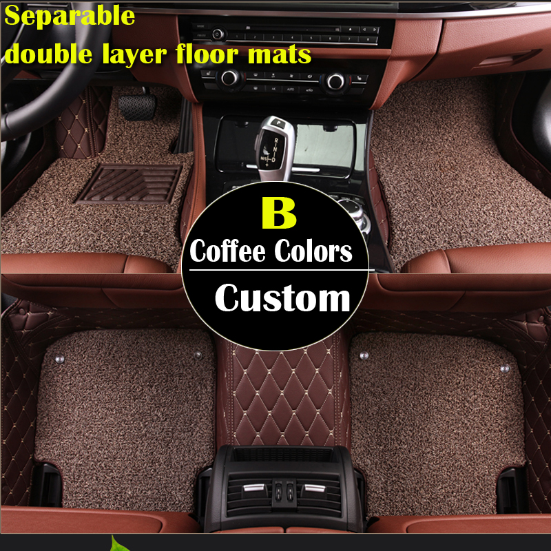 double layer custom car floor mats for Acura MDX RDX ZDX RL TL ILX TLX CDX car accessories AUTO sticker car accessorie auto