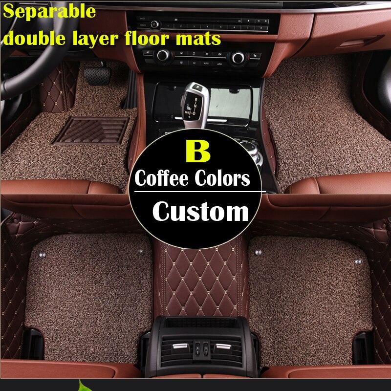 Double couche tapis de sol de voiture sur mesure pour Acura MDX RDX ZDX RL TL ILX TLX CDX accessoires AUTO autocollant accessoire de voiture auto