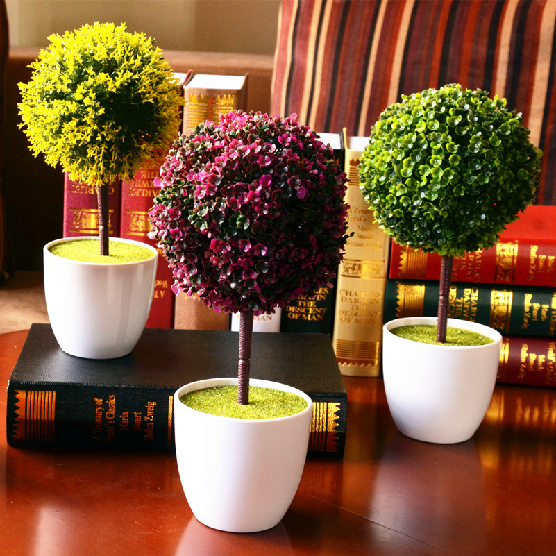 2015 Hot Selling Simulation Plant Pot Small Miniascape Green Flower Grass Ball Suit Desktop Table