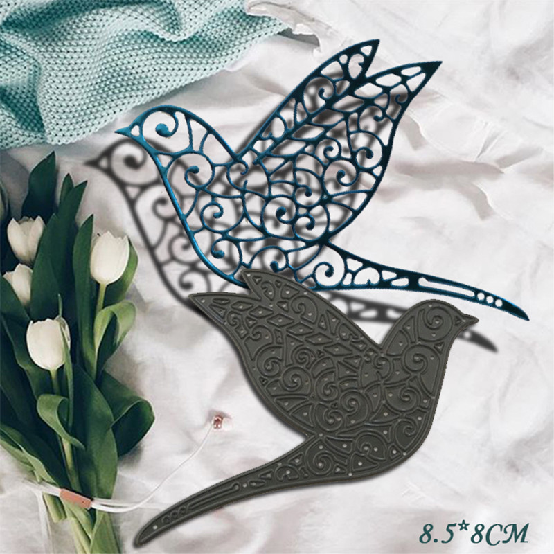 Birds Metal Die Cutting Scrapbooking Embossing Dies Cut Stencils Decorative Cards DIY album Card Paper Card Maker polygon hollow box metal die cutting scrapbooking embossing dies cut stencils decorative cards diy album card paper card maker