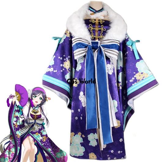 Spring Festival Kimono Dress Cheongsam Cosplay Costume Nozomi Tojo Love Live