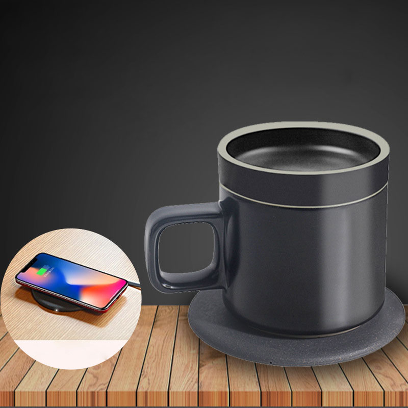 100 240 В Подогрев чашки коврик теплый коврик для кофе молоко водонагреватель подстаканник Настольный отопительный инструмент беспроводной зарядный термостат