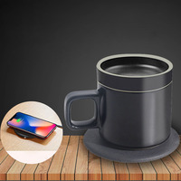 100 240V Heating Cup Pad Warm Pad for Coffee Milk Water Heater Coaster Desktop Heating Tool Wireless Charging Thermostat