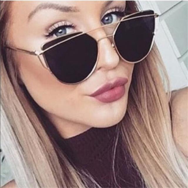 Red Vintage Retro Glasses Rose Brand Black Oculos Blue 49Off Eye Eyewear Us4 In mirror Cat 39 Sunglasses Designer Women's Gold 0nwOPk